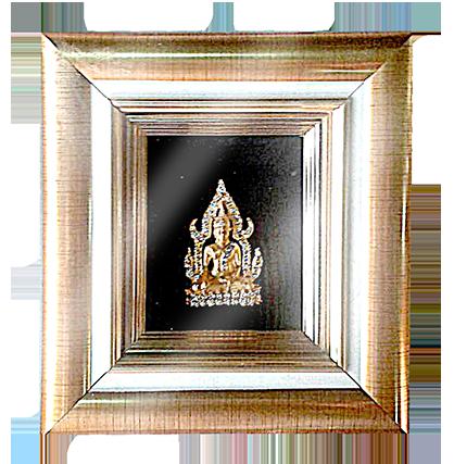 กรอบรูปหลุยส์ผ้าไหมลายพระพุทธรูปเหมาะสำหรับเป็นของที่ระลึก ของชำร่วย และเป็นของใช้สำหรับตกแต่งบ้าน