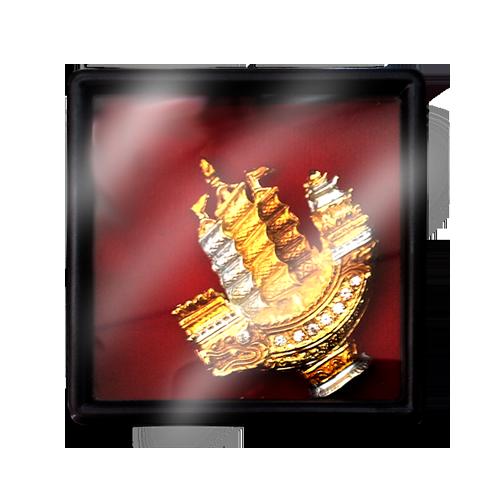 เข็มกลัดลายไทยลายเรือสำเภาเหมาะสำหรับเป็นของที่ระลึก ของฝาก และของชำร่วยในงานพิธีต่าง ๆ