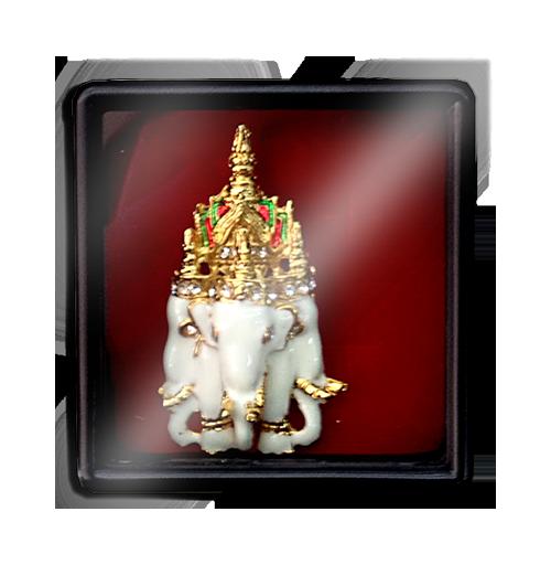 เข็มกลัดลายไทยลายช้างสามเศียรเหมาะสำหรับเป็นของที่ระลึก ของฝาก และของชำร่วยในงานพิธีต่าง ๆ