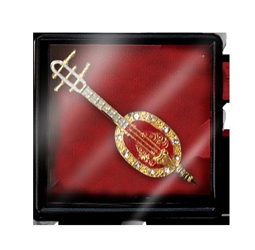เข็มกลัดลายไทยลายเครื่องดนตรี (พิณ)เหมาะสำหรับเป็นของที่ระลึก ของฝาก และของชำร่วยในงานพิธีต่าง ๆ