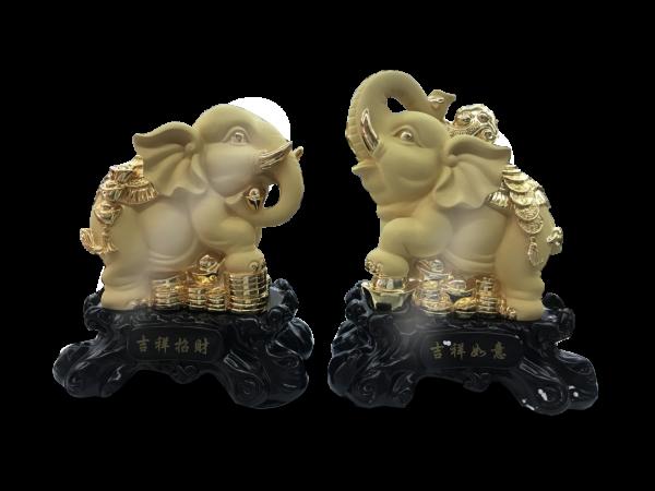 สินค้ามงคล吉祥招财 ช้างคู่มงคลเหมาะที่จะเป็นของขวัญ ของชำร่วย ของที่ระลึกและของตกแต่งบ้าน